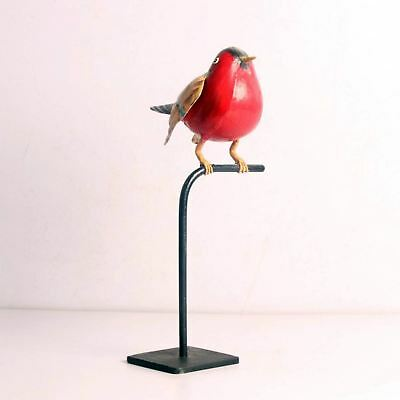 Rare Colorful Iron Bird On Stand Hand Made Hand Painted Home Décor-Ebay3967Rb-9