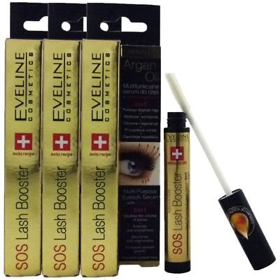 Eveline Cosmetics SOS Lash Booster 3 x 10ml Eye Lashes Wimpernserum Wachstum Set