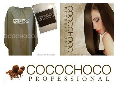 Cocochoco Brazilian Keratin Treatment Hairdressing Salon Cape - Brown One Size