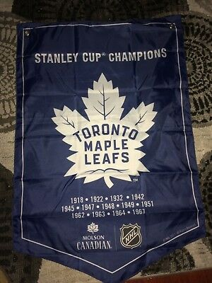 2018 Molsons Canadian   Stanley Cup Champions Banner  Toronto Maple Leafs  --New