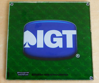"""Seven (7) IGT Gaming Slot Machine Glass Panels / Coasters? 5-1/2"""" Square"""