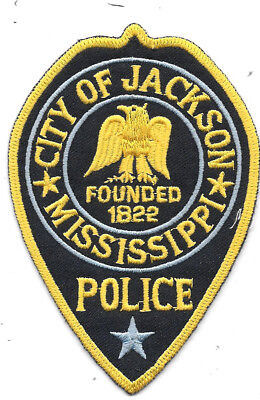 """Police Patch: City Of Jackson Mississippi Police Patch Measures 3"""" X 4 1/2"""""""