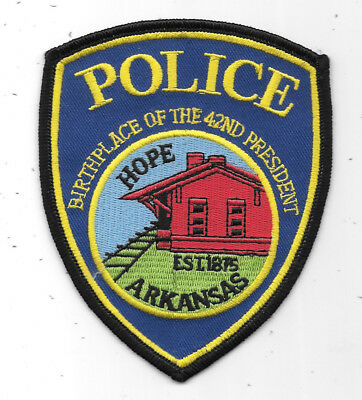 """Police Patch: Birthplace Of The 42Nd President Arkansas Police Patch 5"""" X 3 1/2"""""""