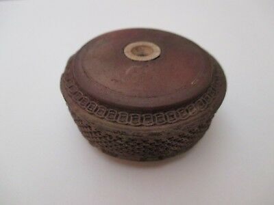 Antique 19th Century Yixing Terracotta Chinese Pipe Bowl Damper
