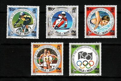 1994 Isle of Man, Olympic Games, NH Mint Set of Stamps, SG 621-5