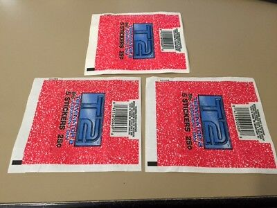 Terminator 2  T2 - 50x Wax Pack Card Wrappers - Topps 1990 - NO TEARS !!!!