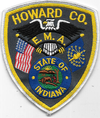 "Police Patch: Howard County E.m.a. Indiana Patch Measures 4 1/2"" X 3 1/2"""