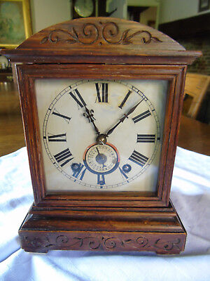 Antique Winterhalden & Hofmeier Black Forest Bracket Alarm Clock : Oil Serviced
