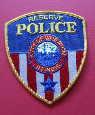 """New / Unused - Wheaton, Illinois - """"reserve"""" - Police Shoulder Patch"""