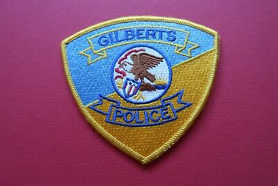New / Unused - Vintage/obsolete - Gilberts, Illinois - Police Shoulder Patch