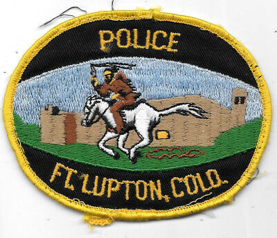 """Police Patch: Ft. Lupton, Colorado Police Patch Measures 3 1/2"""" X 4 1/2"""""""