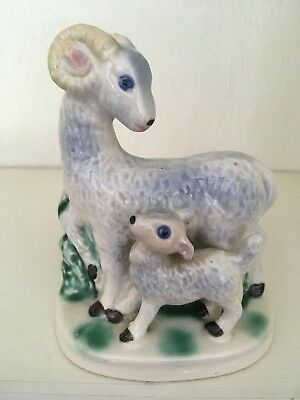 Vintage Mother sheep and lamb planter