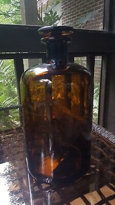 Antique pharmacy /apothecary bottles with glass stopper