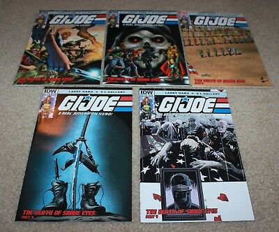 GI Joe 212 213 214 215 Death of Snake Eyes