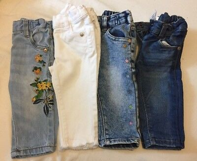 4 Pairs Of Baby Girls Next Jeans 3-6 Months