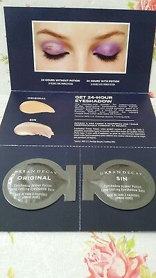 URBAN DECAY EYESHADOW PRIMER POTION 2x0.075ML SAMPLES ORIGINAL AND SIN