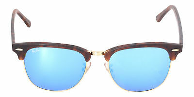 0c19aaafab Ray-Ban Clubmaster Grey Blue Mirror Sunglasses RB3016F 114517 55