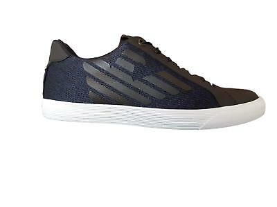 bd75c1ddb135 Shoes EA7 Emporio Armani 7 EA Man X8X005 Sneakers Blue Black Sport Light  Logo F