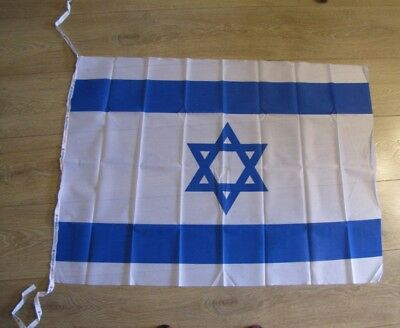 WAVE 3.7 x 2.7 feet ISRAEL National FLAG Jewish Star Magen David