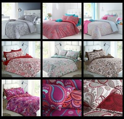 Paisley Duvet Cover Bedding Quilt Set And Pillowcases Single Double King Sizes**