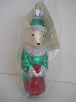Patricia Breen FESTIVE MOUSE #9611A~Holding Red Bag 1996 NEW