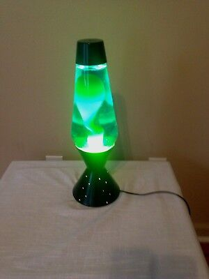 "Vintage Lava Lamp Lite Star Starlite Motion 17"" Tall 6 Lbs. Green/yellow"