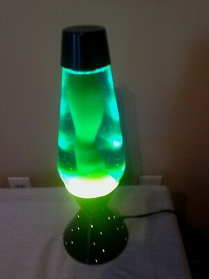"Vintage Lava Lamp Lite Star Starlite Motion 17"" Tall 6 Lbs.  Blue/yellow"