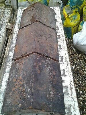 "reclaimed red clay victorian 9""wall capping /copings x19"