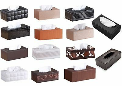 PU Leather Tissue Box Holder Organizer Cover, Home & Office Decor For Any Room