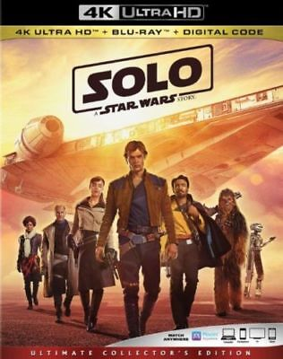 SOLO: A STAR WARS STORY 4K ULTRA HD Disc+Case - No Blu Ray No Digital