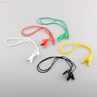 6F30 10pcs 50cm Double-ended Crocodile Clips Clips Jumper testing wire Leads