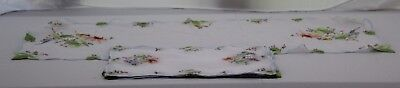 Vintage Floral MADEIRA Linen Organdy Placemats & Table Runner