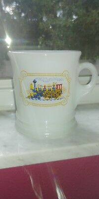 Vintage Avon Milk Glass Locomotive/Train Shaving Mug