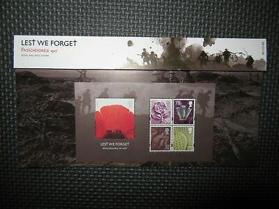 "G.B Presentation Pack ""Lest We Forget, Passchendaele 1917"" 08/11/07 Pk No.405"