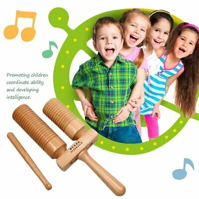 Beech Wood Wooden Crow Musical Instrument Double Tone High and Low PercussionPD