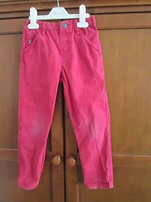 Boy's Pair of Junior Jasper Conran Red Trousers Age 4-5 Years 110cm