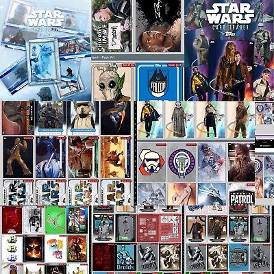 Topps Star Wars Card Trader Pick 9 DIGITAL CARDS ~ INSERTS SOLO RARE~