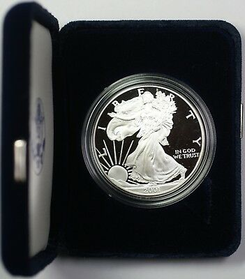 2001-W Proof American Silver Eagle $1 Coin ASE 1 Troy Oz .999 Fine with OGP