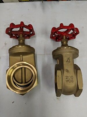 "NEW Fresno 4"" Threaded Gate Valves - 200 WOG"