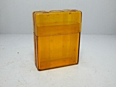 1940's Wwii Acrylic Cigarette Pack Protector Amber Color