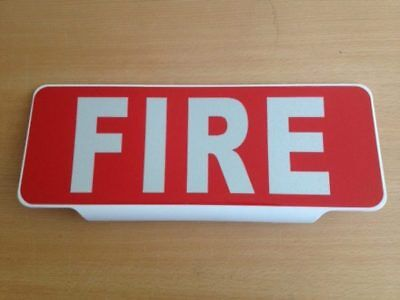 FIRE with Reflective Silver Text univisor Sign visor