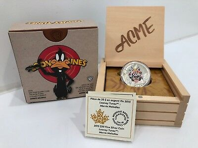 Looney Tunes: Merrie Melodies 2015 Royal Canadian Mint $20 Fine Silver Coin Set