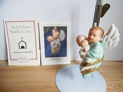 1998 Ashton-Drake Porcelain Ornament And His Name Shall Bee Called Almighty God