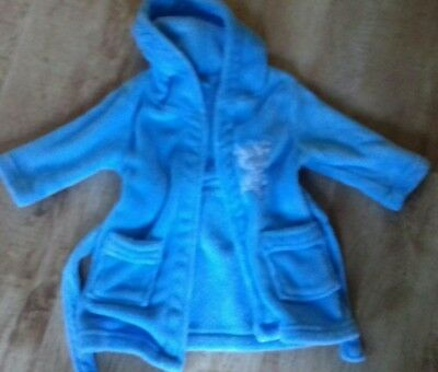 Boys Blue Hooded Dressing Gown Age 12-18 Months From Lily & Jack