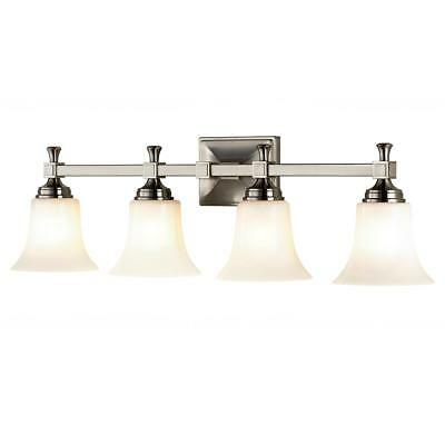 Home Decorators 4-Light Satin Nickel Bath Sconce with Opal Glass Shades  119A