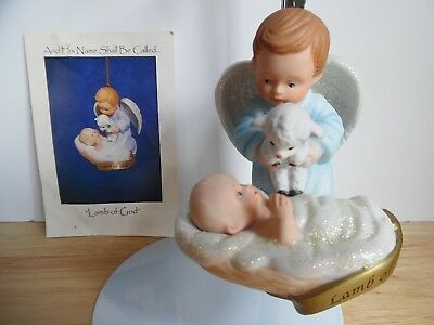1998 Ashton-Drake Porcelain Ornament And His Name Shall Be Called Lamb or God VG