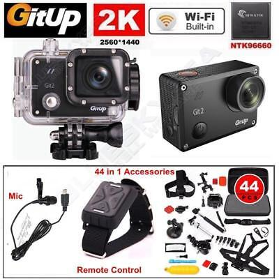 Gitup Git2 16M 2K Wifi Sports Action Camera DVR Camcorder Waterpoof+Control+Kits