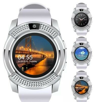 Latest Round Face Bluetooth Touch Screen Smartwatch For Samsung Iphone Lg Zte