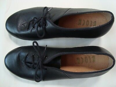 Bloch Women's Lace-Up Black Leather 2T Size 7 1/2 Tap Shoes in Very Good Cond