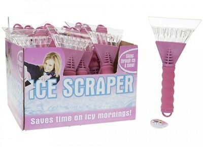 Ice Scraper Soft Grip Foam Handle Heavy duty Winter Ice Snow Brushes PINK